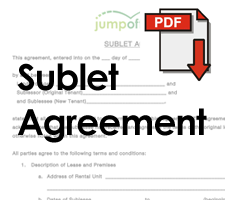 Sublease Agreement - Subletting Your Apartment